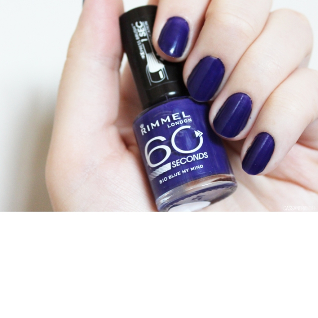 RIMMEL-60 Seconds- Lak za nohte-810 Blue My Mind, 8ml