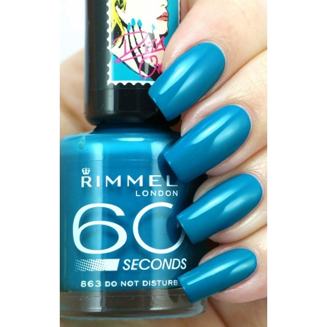 RIMMEL-60 Seconds Rita Ora- Lak za nohte-863 Do Not Disturb, 8ml